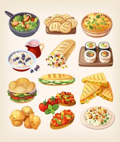 Buy Street Food from Different Countries of the World by moonery on GraphicRiver. Set of colorful takeaway food icons. Food From Different Countries, Food On Sticks, Meat Rolls, Food Icons, Shawarma, Food Drawing, Mini Foods, Fish And Chips, Food Trucks