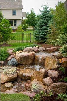 Garden ponds 588423507546005181 - 43 Stunning Garden Pond Waterfall Design Ideas Source by Frugallivingdotme
