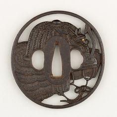 Sword Guard (Tsuba)  Date: 19th century  Culture: Japanese  Medium: Iron, gold, copper  Metropolitan Museum of Art