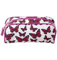 "Earthly Paradise Cosmetic Bag $7.99 Perfect for your new spring makeup! Fits all Avon Pro Makeup Brushes, yet is sleek and compact. 9""L x 7""W. Polyester."