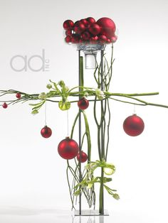 Accent Decor Design Center: This would be a GREAT design shifted to a more natural feel by the choice of branches - even with some narrow pine for scent
