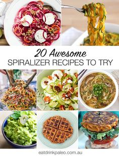 I've compiled some of my favourite healthy vegetable spiralizer recipes - from zucchini noodles to sweet potato curly fries and vegetable spiral waffles.