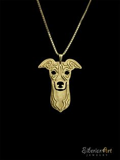 Italian Greyhound - 18k gold plated sterling silver pendant and necklace. $120.00, via Etsy. Looks like Lucy!