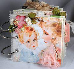 gorgeous vintage baby-themed mini album