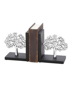 Look what I found on #zulily! Tree Bookend - Set of Two #zulilyfinds