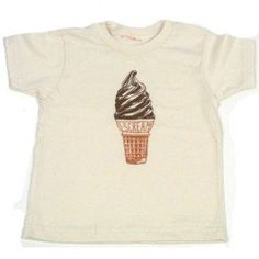I- Scream Ice Cream Cone Organic Toddler Shirt by Little Lark (2T-M) Little Lark. Hip, funky, alternative clothes for your funny baby and cool toddler. Sweatshop Free, Made in the USA, 100% Cotton. Hand pressed in Portland, Oregon by a mom.. Great Baby Shower Gift!.  #Baby_Wit #Apparel