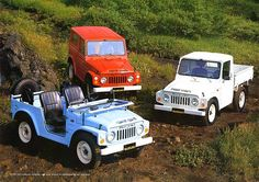 I have never seen these before... reminds me of FJ40 and old Land Rover. Very cool. Suzuki LJ80