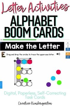 Reinforce uppercase and lowercase letter recognition, letter formation, and letter sounds with hands-on and engaging Boom Card activities. These digital task cards will work on learning to identify and name the letter J.Use this deck for letter of the day, letter of the week or all year to reinforce alphabet knowledge. This pack includes activities for uppercase and lowercase letters, letter discrimination, letter sounds, letter building, and sorting. Literacy Skills, Kindergarten Literacy, Alphabet Activities, Literacy Activities, Alphabet Writing, Letter Formation, Letter E, Uppercase And Lowercase Letters, Letter Recognition