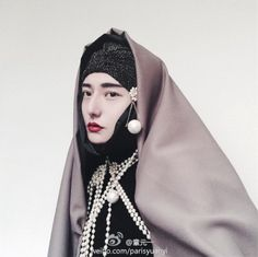 Weird Selfie Photo,Model,Makeup,Hair by myself Camera Headdress, Headpiece, We Wear, How To Wear, Models Makeup, Chinese Style, Chinese Fashion, Modest Outfits, Asian Woman