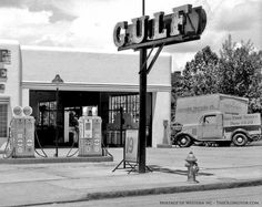 Vintage Gulf Gasoline Station, 1935 Chevrolet truck