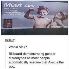 I try not to do this and I still automatically assumed Alex was the boy...