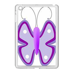 Cute Awareness Butterfly Apple iPad Mini Case (White)
