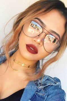 8319ade7b1 Miss Runway Fashion - Viva Clear Glasses - Black  aviationglamourglasses  Gafas Tumblr