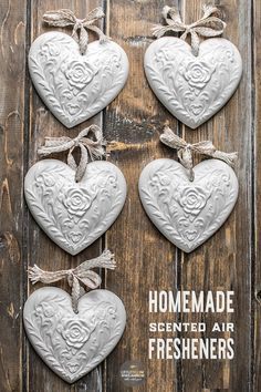 Making these pretty homemade air fresheners couldn't be easier.  They last for weeks and the scent can be recharged.  This is a perfect DIY craft project to do with the kids or to make as homemade gifts.
