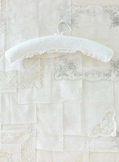 Vintage-style clothes hanger