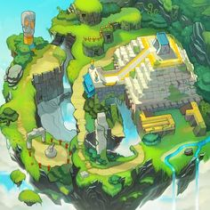 Sonic Chronicles Map Art: Angel Island by joy-ang.deviantart.com on @deviantART: