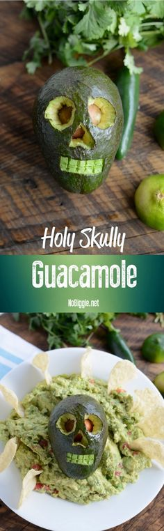 Holy Skull-y Guacamole - get the recipe on NoBiggie.net