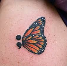 Image result for semicolon butterfly tattoo