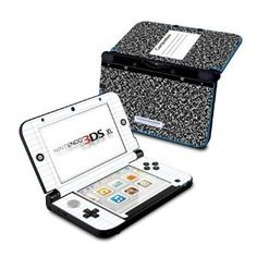 Composition Notebook Design Protective Skin Decal Sticker for Nintendo 3DS XL Handheld Gaming System