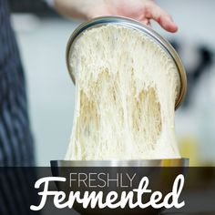 Sourdough is made from the natural occurring yeast and lactic acid bacteria in flour.It is often also used to name breads made using the culture.Yeasts and bacteria suitable for bread production are found in relatively high amounts on the surface of cereal grains, such as wheat...