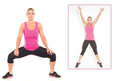 Plie jumps - abs, butt and legs - Women's Health & Fitness