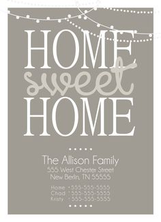 Moving Announcement Change of Address by allisonpowelldesigns