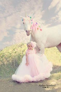 Making little girls dreams come true with our stud horse KOOL in his unicorn photo shoot