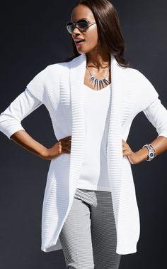 Madeleine White Knit Sweater