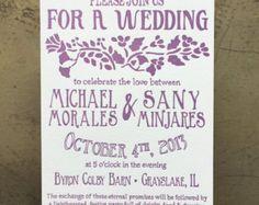 Vintage Wedding Invitation Retro Wedding By Talkofthetownpartyuk