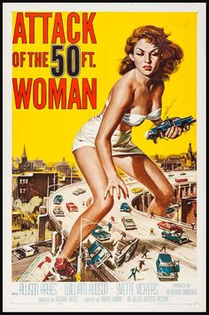 Attack of the 50 Foot Woman Three Sheet Poster