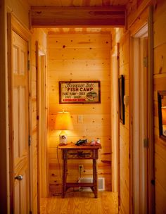 Tongue & groove 1x6 pine walls | Pre-finished (Honey Spice) baked on and UV sealed stain