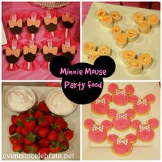 Minnie Mouse Food - see all the Games, Decorations and Food ideas from this Baby Shower -  Events To Celebrate