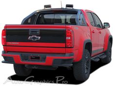 2016-2017 Chevy Colorado Grand Rear Tailgate Accent Vinyl Graphics Stripes Kit Vinyl Graphic Stripe Decal Kits Vehicle Specific Accent Striping Decals Packages | AutoGraphicsPro Fast Install Car Decals