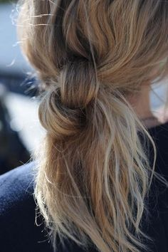 weekend hair: THE DOUBLE KNOT