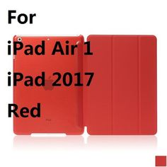 Ultra Slim Three Fold PU Leather with Crystal Hard Back Smart Stand Case Cover for iPad Air 1 2 Pro 9.7 iPad 2017 With Gift