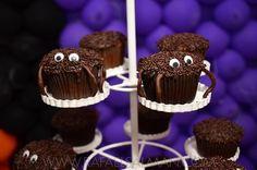 Cupcake aranha tema Halloween