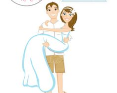 Beach Groom Carrying Bride Character by JWIllustrations on Etsy