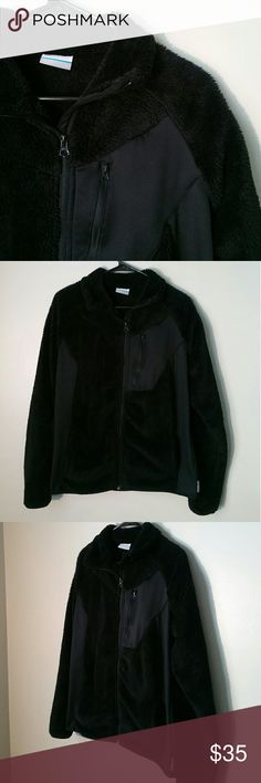 Columbia Fuzzy Fleece Jacket Size large Great condition Columbia Jackets & Coats