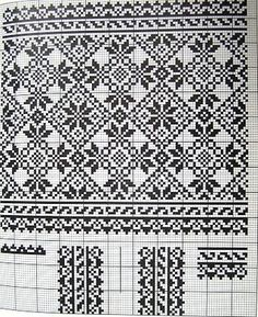 Cross stitching , Etamin and crafts: Traditional cross stitch Pattern Cross Stitch Borders, Cross Stitch Charts, Cross Stitch Designs, Cross Stitching, Cross Stitch Patterns, Fair Isle Knitting Patterns, Knitting Charts, Weaving Patterns, Knitting Stitches