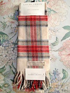 Lochcarron of Scotland 100% Cashmere Stewart Eve Tartan Scarf BNWT RRP £109 1d598444268