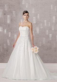 Organza Princess Sweetheart Natural Waist Floor Length Sleeveless Wedding Gowns - Angeldress.co.uk