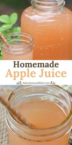 Healthy juice recipes 502784745895365890 - How to make the most delicious homemade apple juice without an apple juicer and without any added sugar. Simple and easy Instant Pot recipe. Juicer Recipes, Canning Recipes, Drink Recipes, Smoothie Recipes, Smoothies, Tupperware, Homemade Juice Recipe, Chefs, Instant Pot