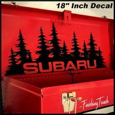 Subaru forest Decal Custom Vinyl Graphic by FinishingTouchVinyls