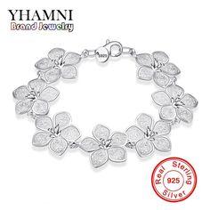 YHAMNI Fashion Jewelry 925 Sterling Silver Jewelry Bracelet Women Wedding Gift Wholesale SH317 #Affiliate