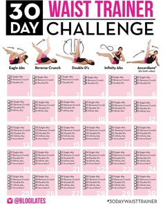 "Want to build a natural corset or ""waist trainer"" with the fibers of your own muscle? Starting Jan 1, I'm going to be starting the #30daywaisttrainer challenge! I've designed this 30 day plan so that everyday you build little by little, and by the..."