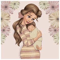 Artist Illustrates Disney Princesses As New Moms, The Results Are Happily Ever After