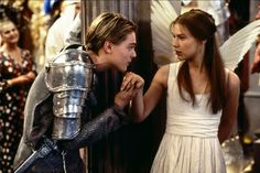 Romeo Montague & Juliet Capulet   Romeo + Juliet (1996)    #leonardodicaprio #clairedanes #couples