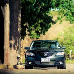 Black Mazda 3 Taupo: Just a little snap from a weekend away in Taupo. Spent some time running back roads with my good friend Sam. Should use the 50mm more often - Its miles sharper than the 16-85mm...     http://choxeviet.com/  http://choxeviet.com/mazda-fm36.aspx
