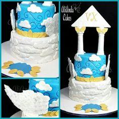 Greek mythology cake with Pegasus wings by AliAnda Cakes.