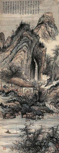 清代 - 石濤 - 山水                                   Painted by the Qing Dynasty artist Shi Tao 石濤. View paintings, artworks and galleries at Chinese Art Museum.